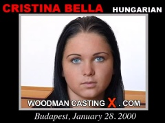 Access Cristina Bella casting in streaming. A Hungarian girl, Cristina Bella will have sex with Pierre Woodman. 
